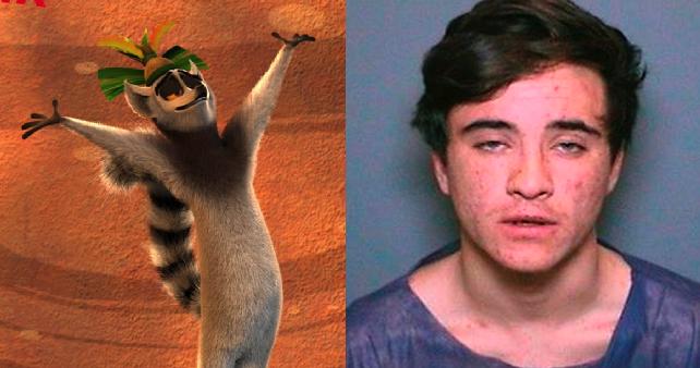 Este activista quiso robar al rey Julien de 'Madagascar' pero lo agarraron en la movida