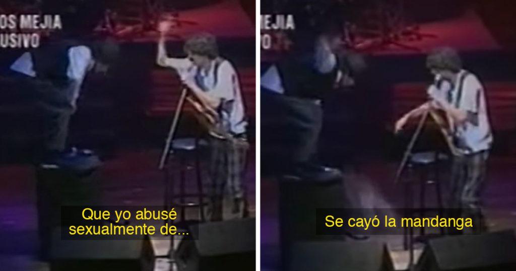 Joaquín Sabina le tira la cocaína a Charly García durante transmisión en vivo (VIDEO)