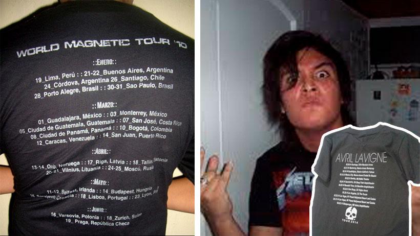 Metaleros que usen playeras de conciertos afuera de los conciertos, serán obligados a bañarse diario