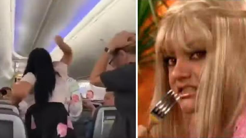 Celosa nivel: le avienta lap-top a su novio por voltear a ver a otra en un avión