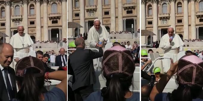 No importa que seas el Papa, si alguien te invita un buen mate, te lo tomas
