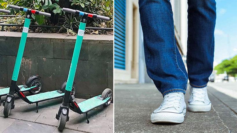 Tras suspensión de scooters, millennials descubren que tienen pies para caminar