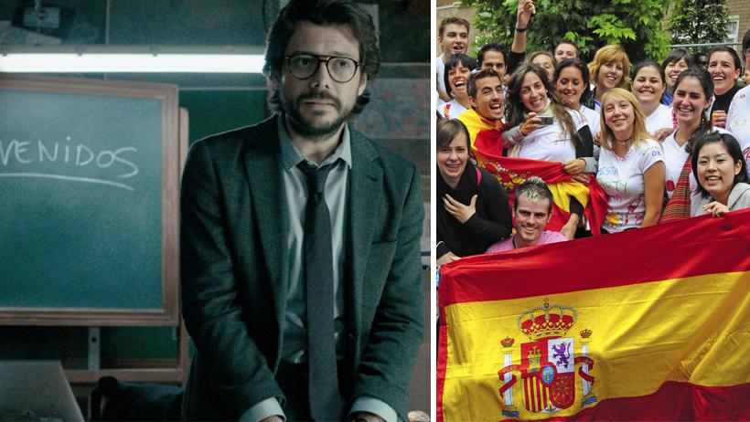 Descubren que el profesor de la casa de papel ya planeó la vida de cada español.