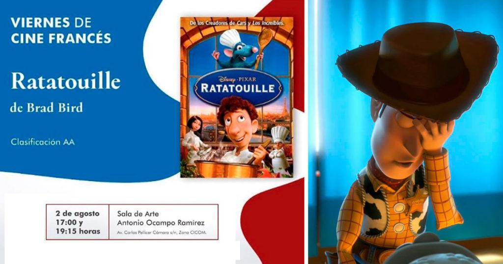 """La Secretaría de Cultura de Tabasco anunció """"Ratatouille"""" como """"cine francés"""" y el internet les dio sabroso"""
