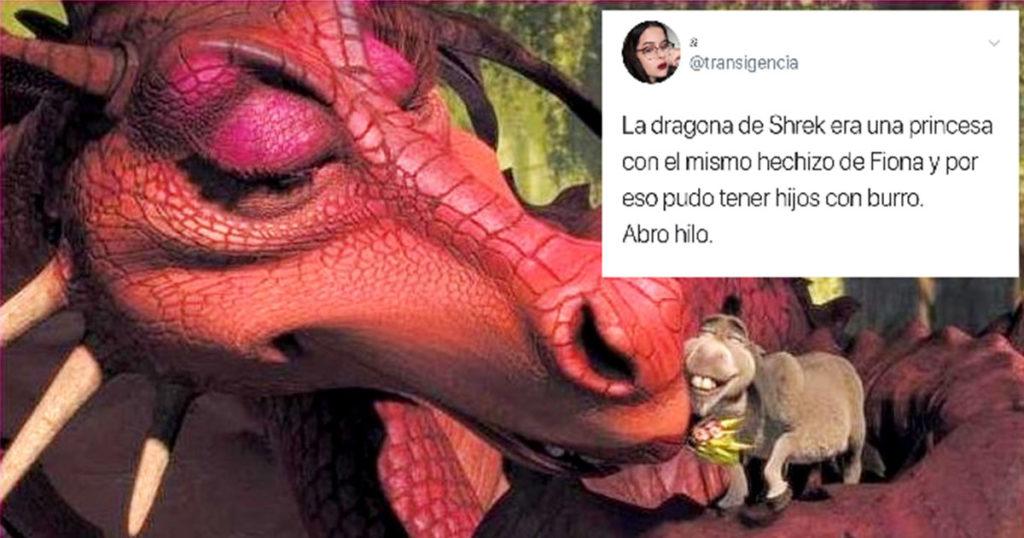 Esta genio por fin explicó cómo es posible que la dragona de Shrek tuvo hijos con Burro