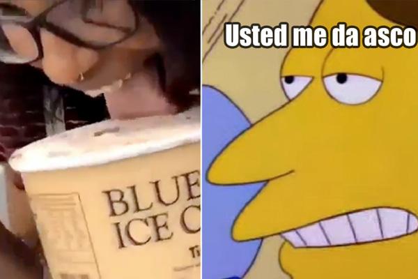 ¡Nooo kiasco! Captan a adolescente lamiendo un helado y regresándolo a su lugar