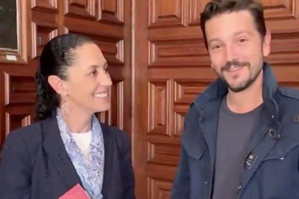 Realizan búsqueda de Claudia Sheinbaum tras perderse en los ojos de Diego Luna