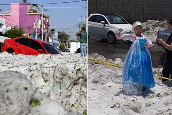 Elsa llevó el invierno a Guadalajara y así lidiaron con su nieve toda puerca