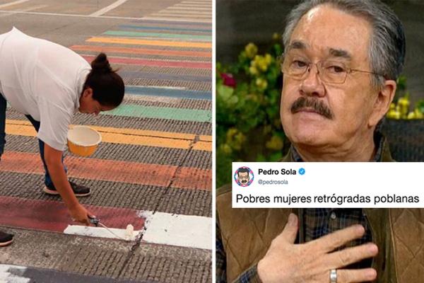 Cuando la menopausia ataca: señoras pintan paso peatonal LGBT pero Pedrito Sola les tiró la brocha