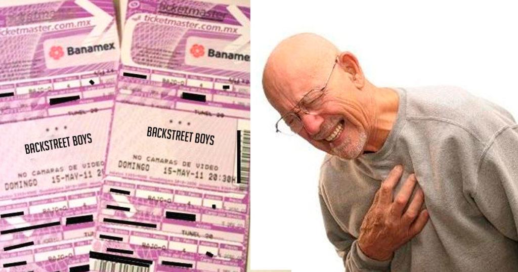 Por Día del Abuelo, nieta le regala a su abue dos boletos para los Backstreet Boys
