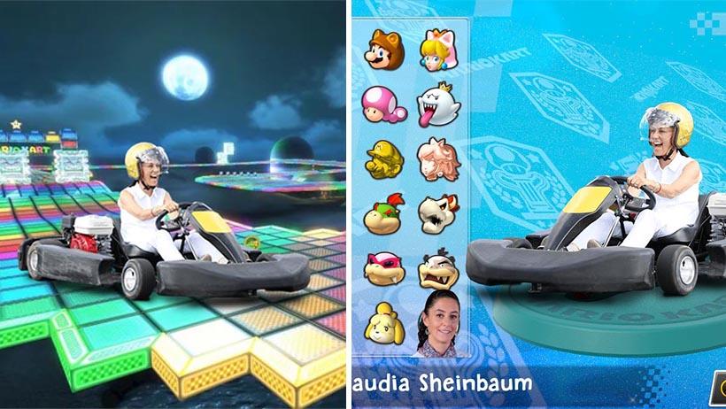 Nintendo confirma a Claudia Sheinbaum como personaje descargable en Mario Kart