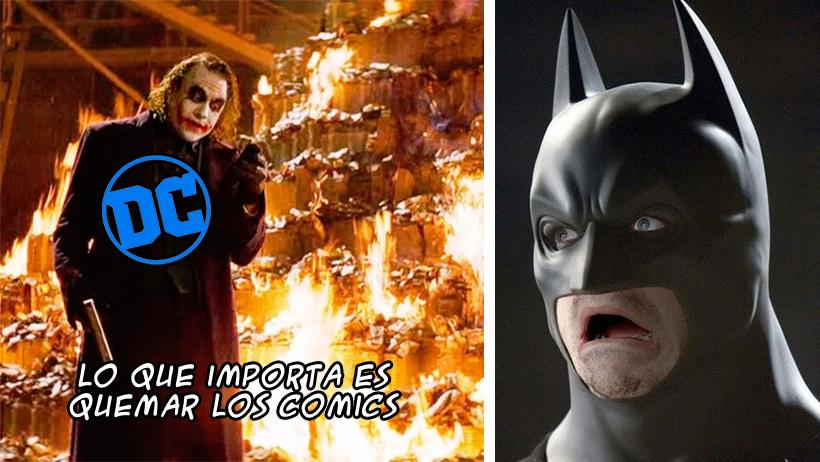 A DC Comics se le botó la canica y está pidiendo que destruyan sus cómics