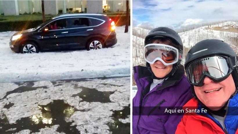 Fifí nivel: Les dieron montañas nevadas artificiales en lugar de playas en Santa Fe