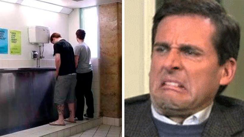 Hombres que no respeten un urinal de distancia podrán ser vetados de baños públicos