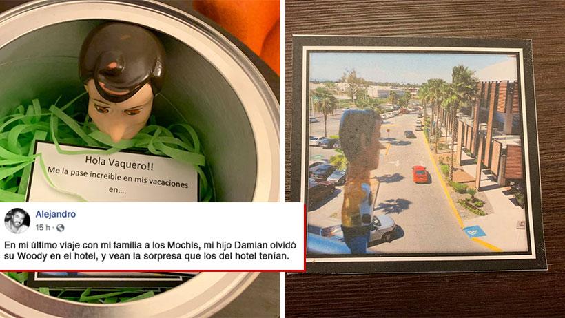 Un morrito olvidó a su Woody en el hotel y le devolvieron el mejor regalo de su vida