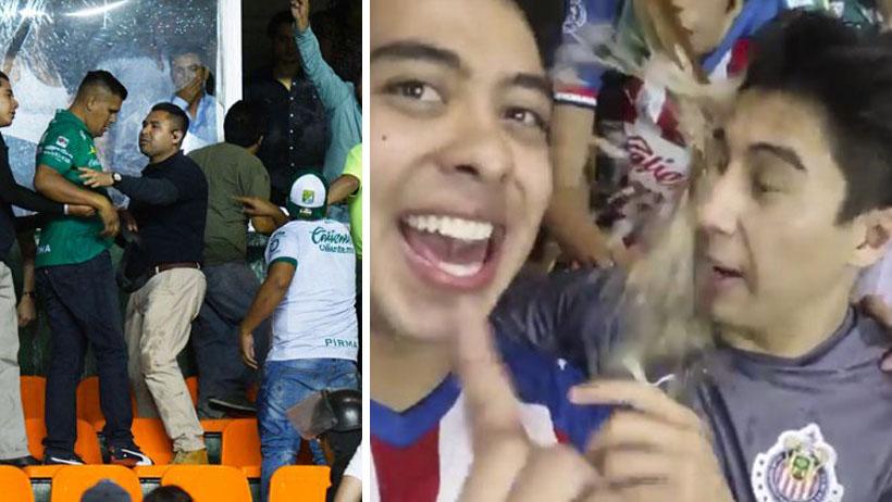Aficionados del León (¿quiénes?) mojan con chela tibia a Daniel Sosa