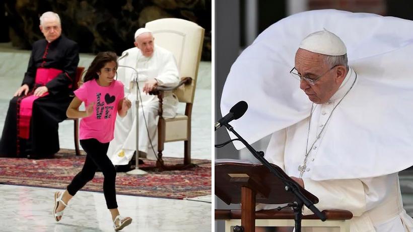 Una morrita se puso a bailar en plena misa y la reacción del Papa nos encorazonó