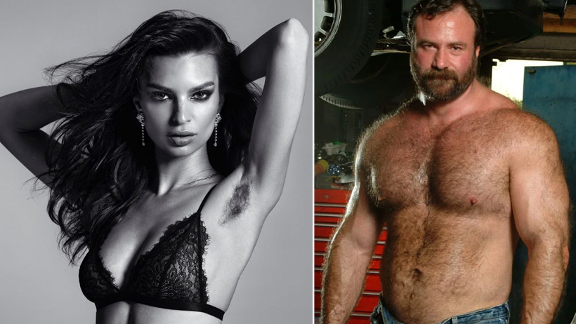 Tras foto de axilas peludas, coronan a Emiliy Ratajkowski como Reina Bear