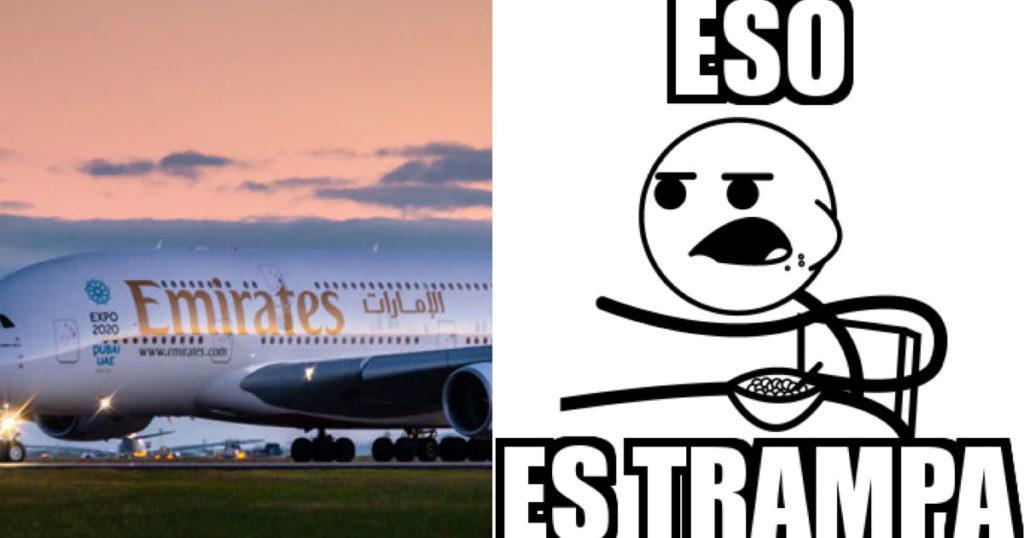 Te explicamos con peras y manzanas la mega tranza que se aventó Fly Emirates en México