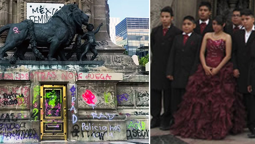 Miles de quinceañeras punk abarrotan el Ángel de la Independencia para sesión fotográfica