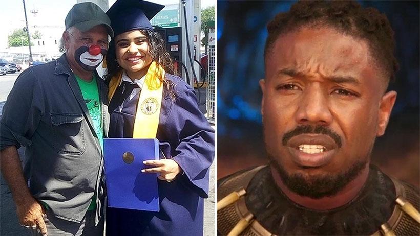 Bellísimo: joven se graduó y fue a ver a su papá en la estación de gas donde trabaja