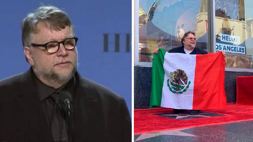 """Guillermo del Toro aplica un """"porque soy mexicano"""" y hasta sacó la bandera"""