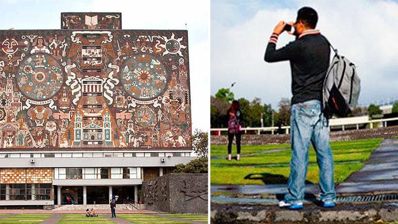 Joven orgulloso de pertenecer a la UNAM se salta la primera clase