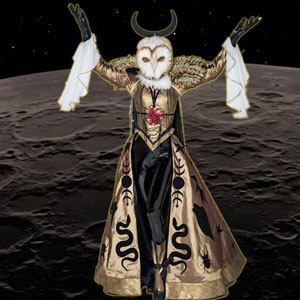 Esta Lechuza no la tiene ni Hogwarts, y aunque parece salida de un anime psicodélico, se encuentra buscando la paz y la trascendencia espiritual. Se declara come flores.