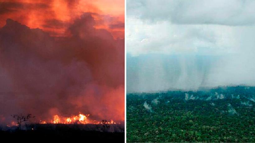 ¡Háganse a un lado influencers! Tras días de incendio, por fin llueve en el Amazonas