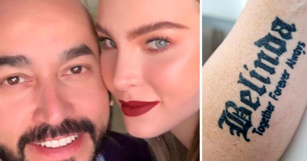 Ya salieron las fotos del tatuaje con el que Lupillo confirma su amor por Belinda