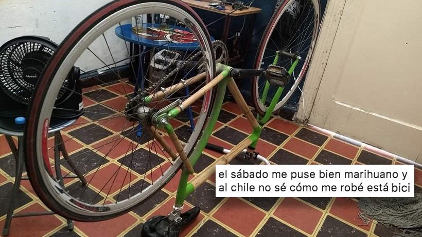 Clásico que te robas una bici por andar de marihuano y necesitas regresarla a su dueño