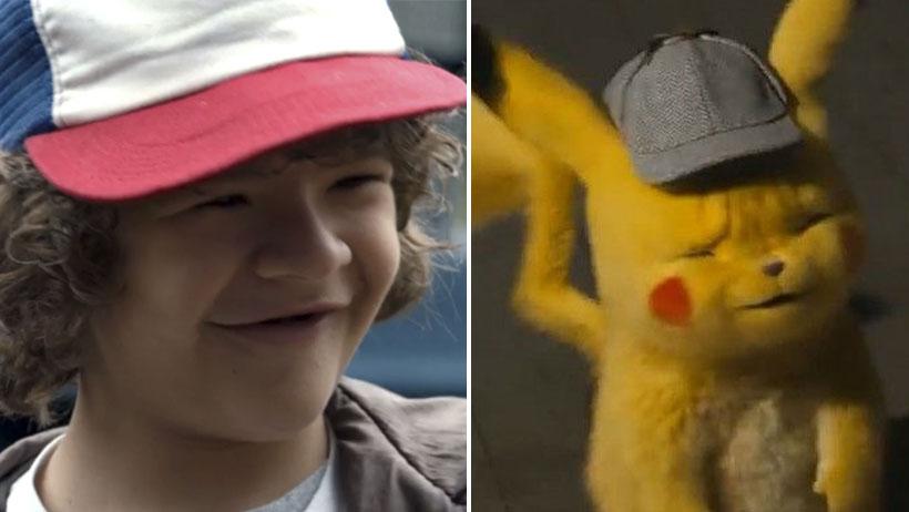 Confirman que el diseño de Detective Pikachu fue basado en Dustin de Stranger Things.