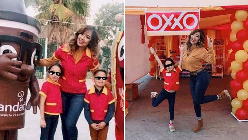 Esta niña armó la fiesta temática de Oxxo y la segunda caja tampoco abrió