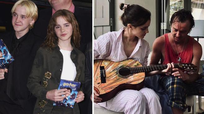 Los malos ganaron: Draco Malfoy se llevó a Emma Watson a la playa