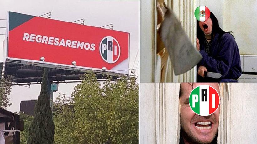 El PRI amaneza con volver y el internet respondió con miedo y memes