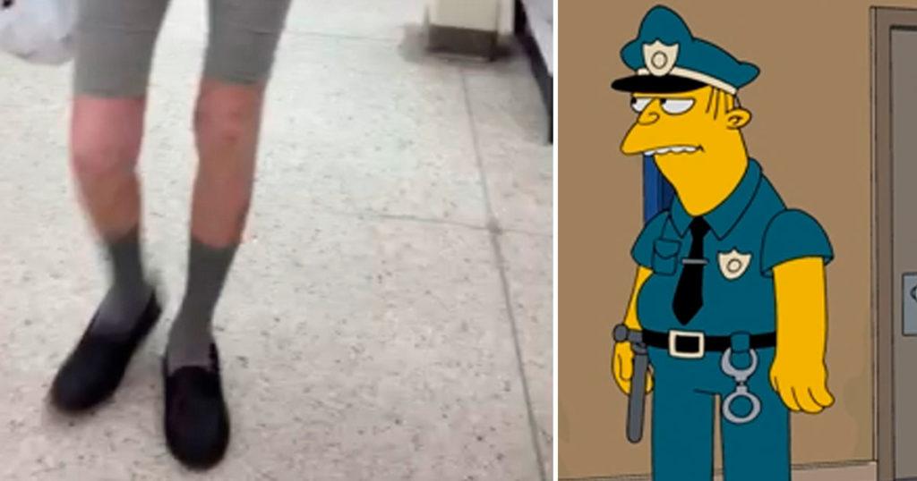 Señores maduros que usen shorts con zapatos serán detenidos por mal gusto