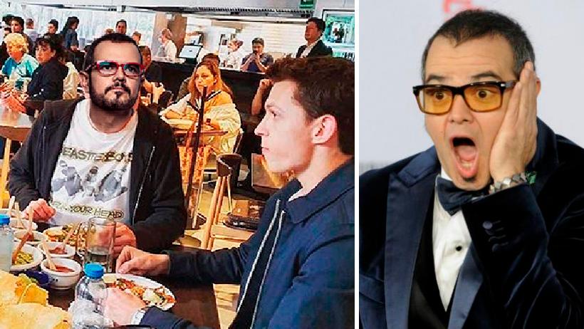 Aleks Syntek es visto con Tom Holland comiendo tacos al pastor