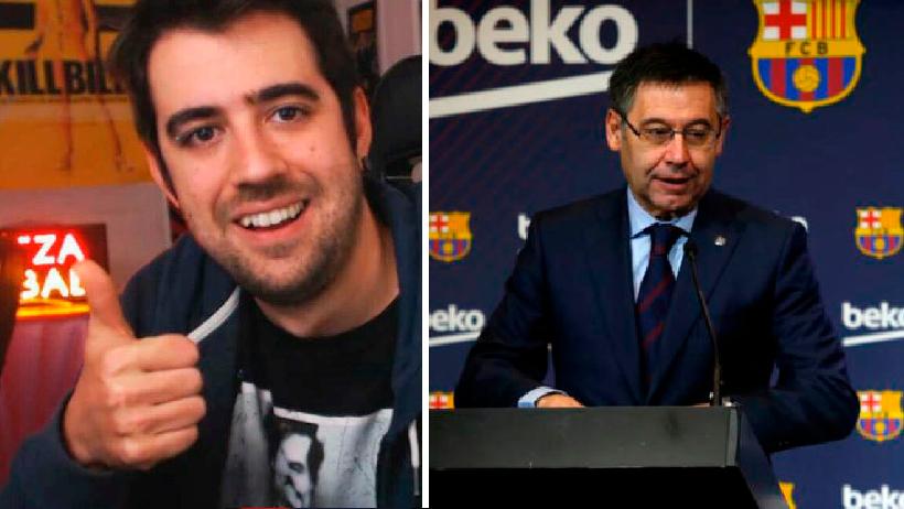 Clásico que eres Auronplay y el Barcelona te demanda por andar de chistosito