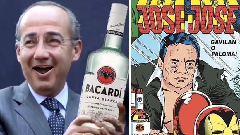 Felipe Calderón entra en su segundo día de peda llorándole a José José