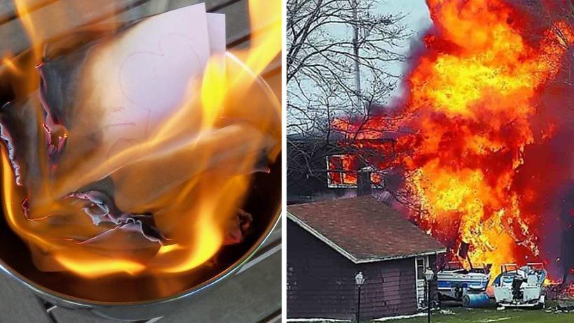 Cerrar ciclos nivel: incendia su casa tras quemar las cartas de su ex