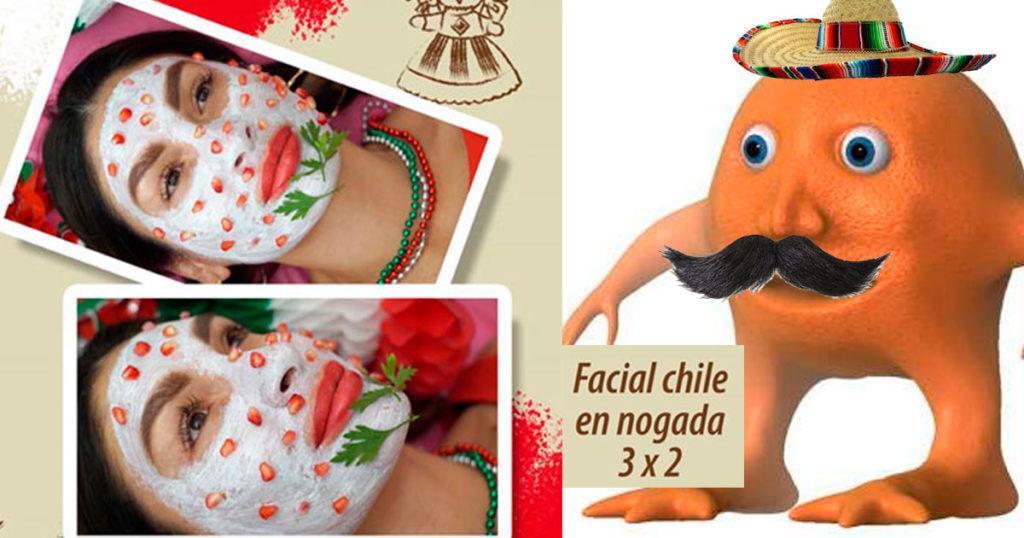 """Alguien inventó el """"facial chile en nogada"""" y Dios ya quiere acabar con los mexicanos"""