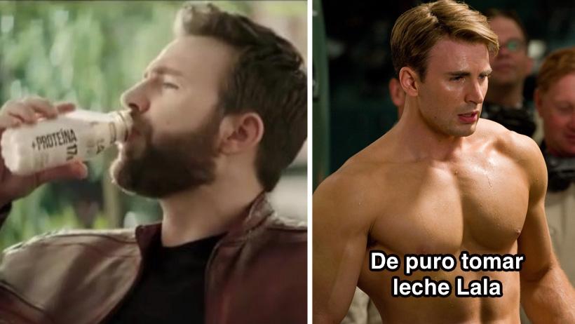 Chris Evans se nos puso mexicano anunciando leche y derramó litros de memes