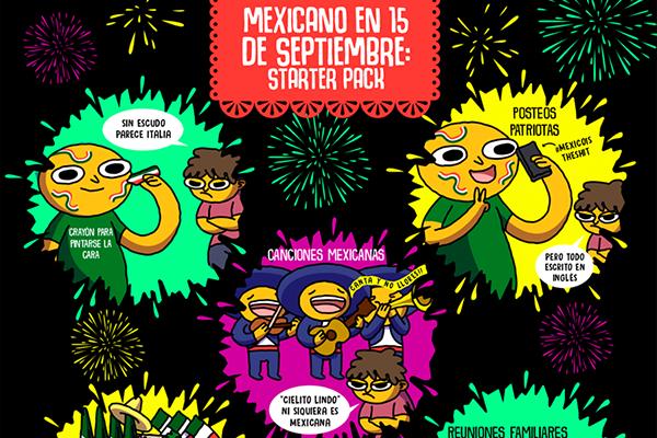 Mexicano en 15 de septiembre: starter pack