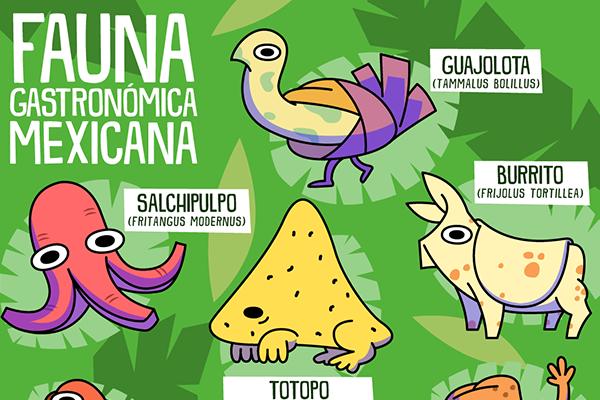 fauna gastronómica mexicana