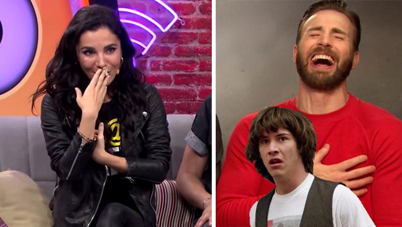 Oso nivel: A Martha Higareda se le salió un moco frente a Keanu Reeves y Chris Evans