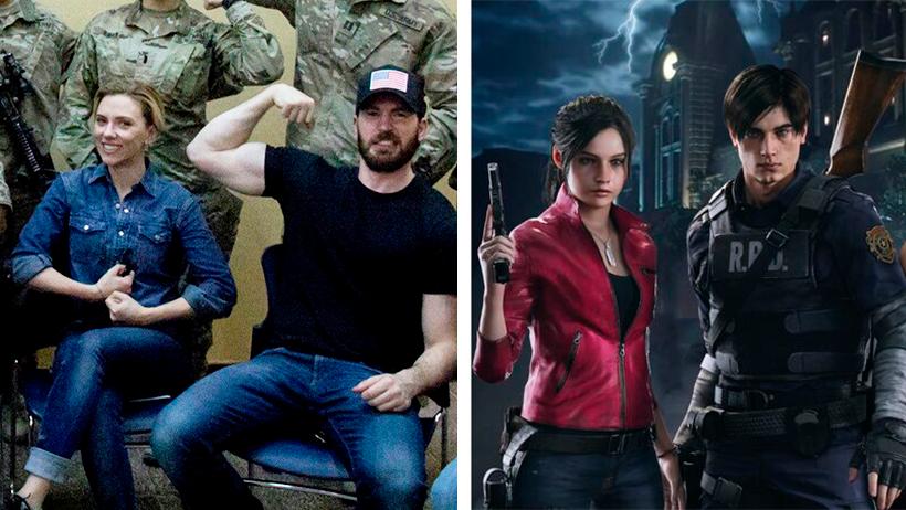 Lanzan poster de Resident Evil con Scarlett Johansson y Chris Evans y los de Frikiplaza están vueltos locos