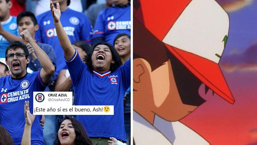 Cruz Azul le desea a Ash Ketchum buena suerte en la final del torneo Pokemon de hoy