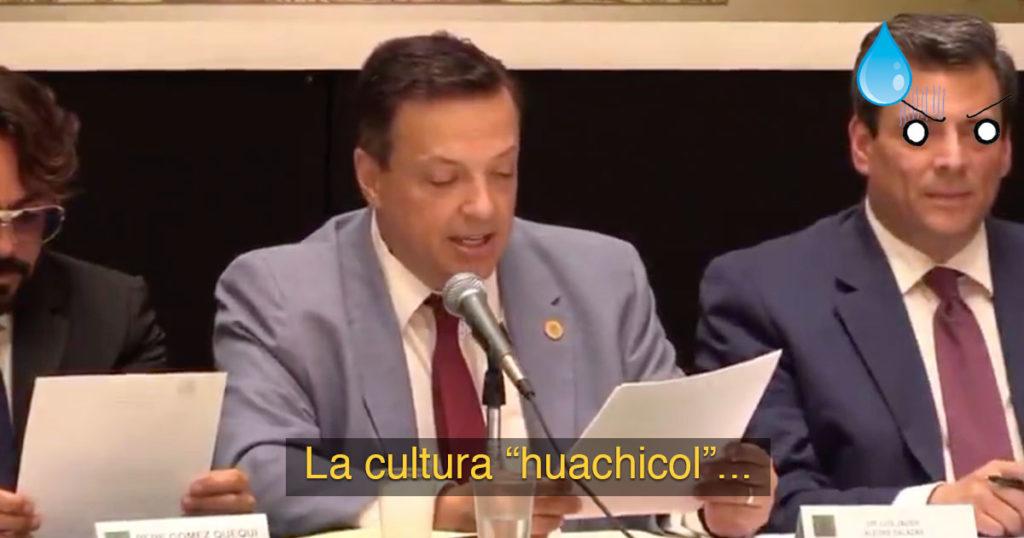 """Momento exacto en el que este diputado celebra a la """"cultura huachicol"""" (VIDEO)"""