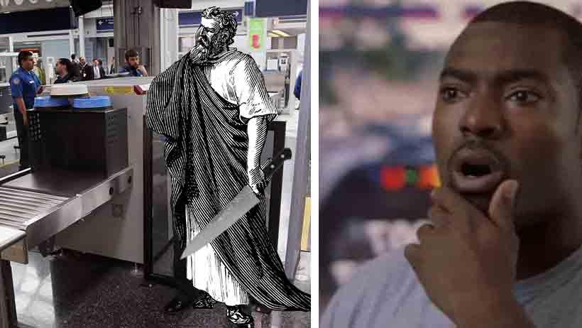 Detienen a filósofo en el aeropuerto al encontrarle una navaja de Ockham en la maleta