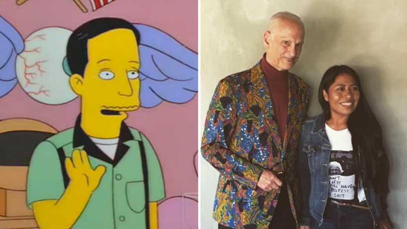 """¿Recuerdas """"Javier"""" de Los Simpson? Pues se tomó la foto con Yalitza y no le cobraron un peso"""